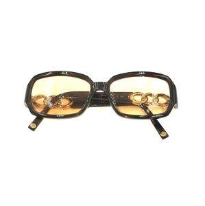 Michael Kors Tortoise Gold Rectangle Sunglasses